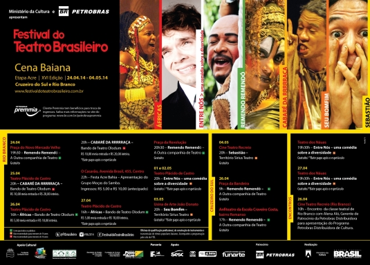 Programação completa do Festival do Teatro Brasileiro