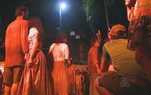 Cena da vivência 'Beco do Mijo' (Foto: Bom Dia Amazônia)