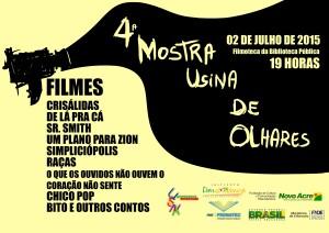 CARTAZ IV MOSTRA USINA DE OLHARES 2015
